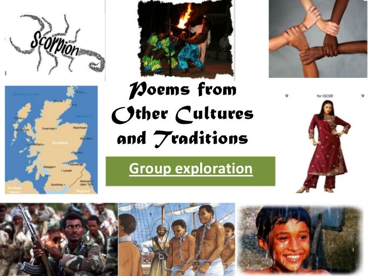 Poems fromOther Culturesand Traditions Group exploration