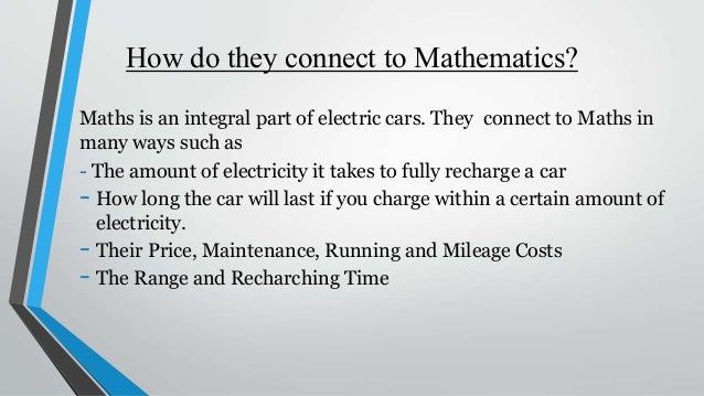 Maths in Electric Cars - Gillett