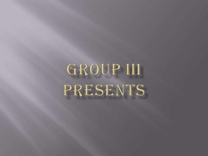 Group iiiPresents<br />