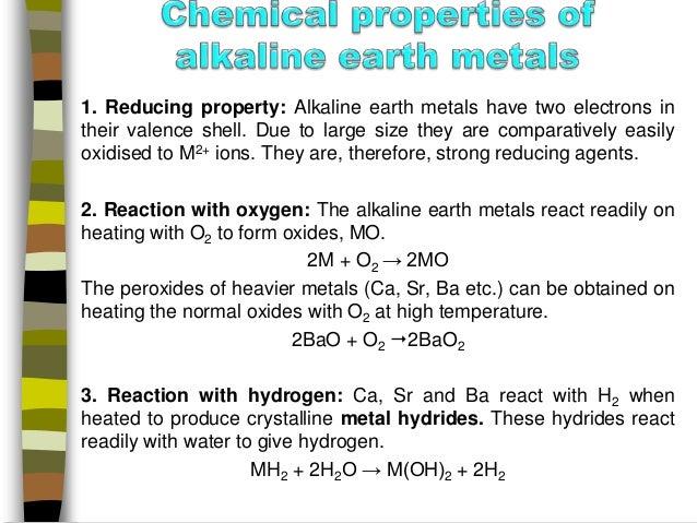 Chemistry of alkaline earth metals manik 11 1 reducing property alkaline earth metals urtaz Images