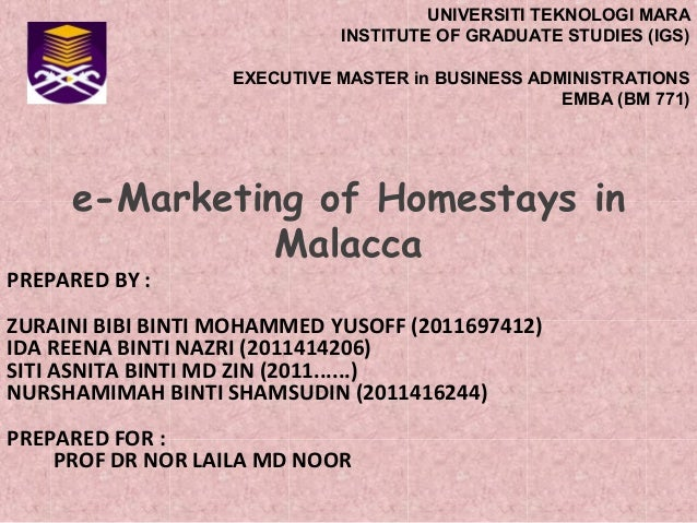 UNIVERSITI TEKNOLOGI MARA INSTITUTE OF GRADUATE STUDIES (IGS) EXECUTIVE MASTER in BUSINESS ADMINISTRATIONS EMBA (BM 771)  ...