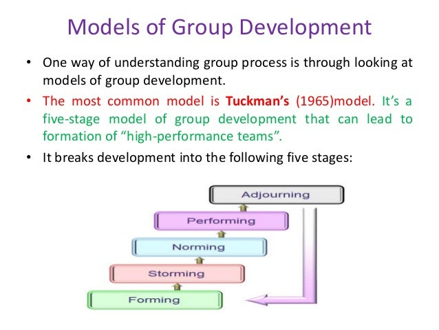 five stages of group formation