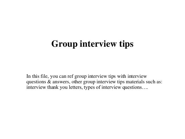 Group interview tips 1 638gcb1436381310 group interview tips in this file you can ref group interview tips with interview questions expocarfo