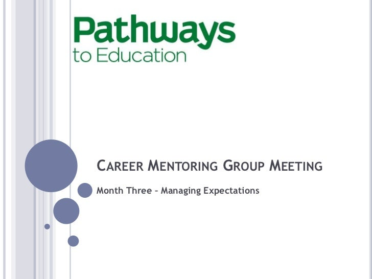 CAREER MENTORING GROUP MEETINGMonth Three – Managing Expectations