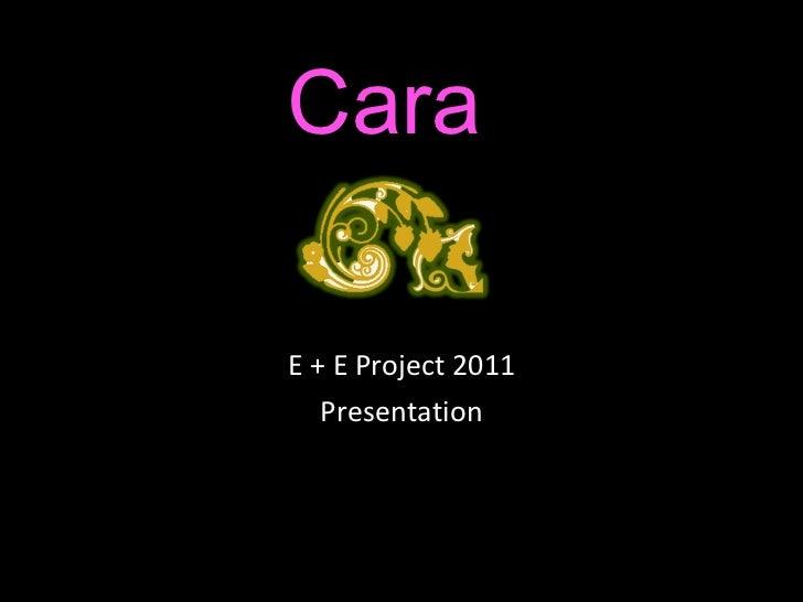 Cara E + E Project 2011 Presentation