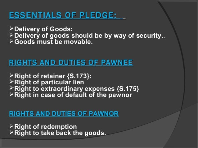 pledges and pawn Unclaimed monies relating to unredeemed pledges auctioned on or before 24  october 2015  a) the pawn ticket corresponding to the surplus.