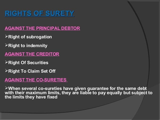 rights of surety pdf