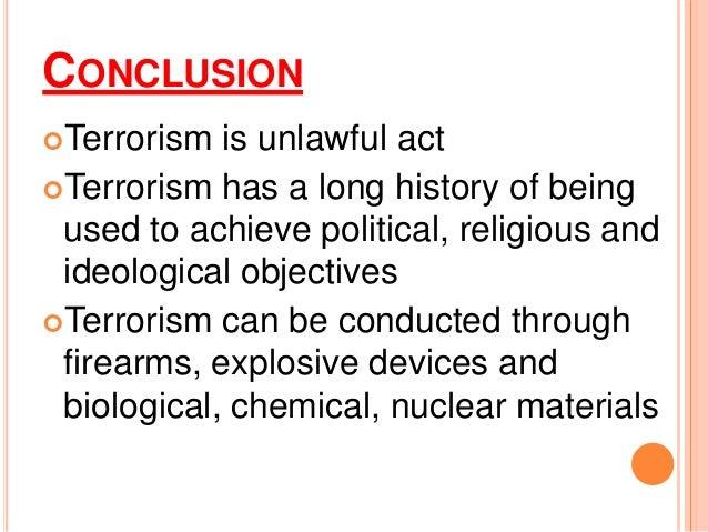 Terrorist Conclusion