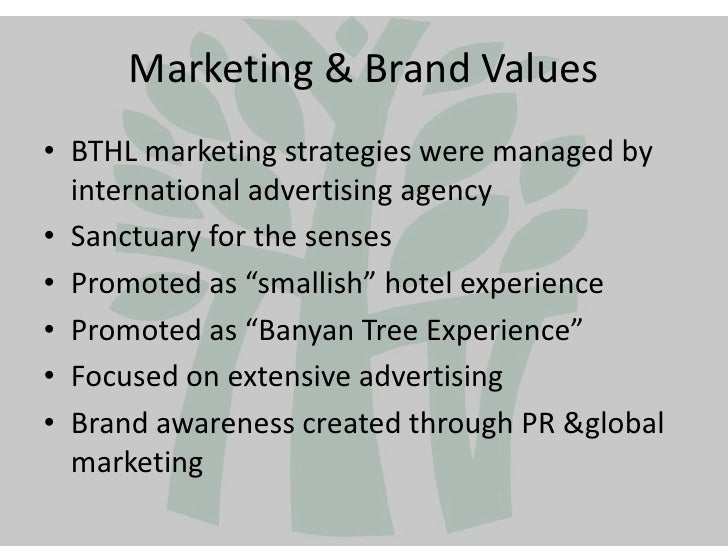 banyan tree target market Provided for the success development of banyan tree hotels as well as asian  hospitality  target markets comparing with other competitors.