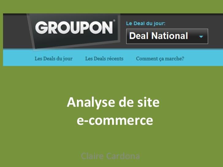 Analyse de site  e-commerce Claire Cardona