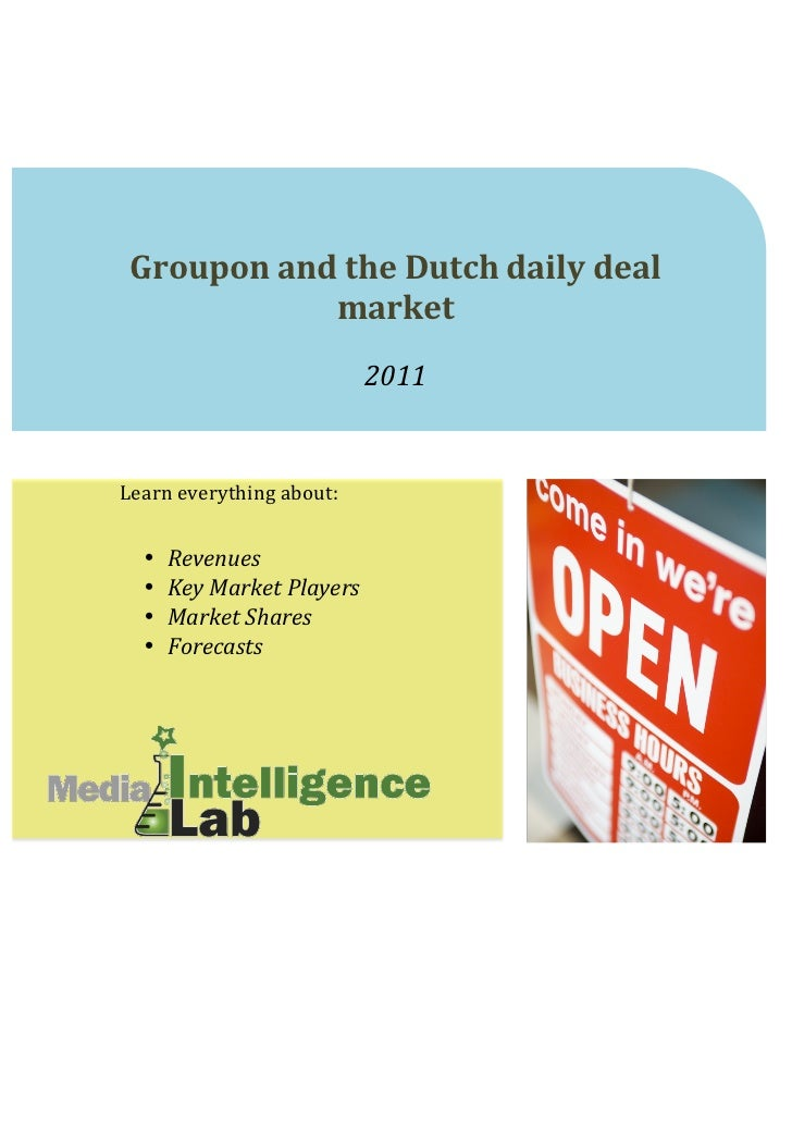 Groupon and the Dutch daily deal ...