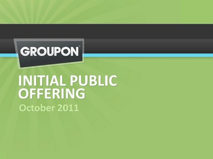 Groupon IPO Roadshow