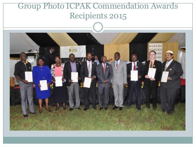 Group Photo ICPAK Commendation Awards Recipients 2015