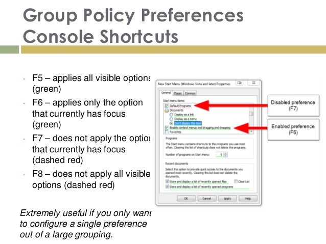 Useful Group Policy Concepts