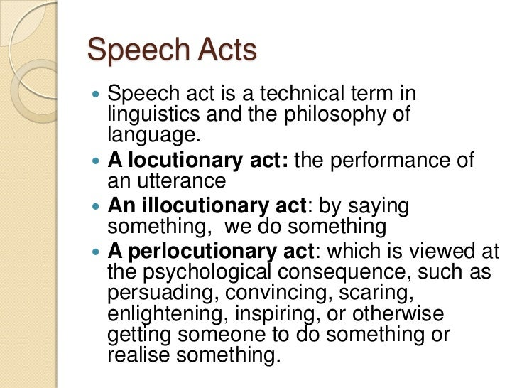 scientific term for the act of speech