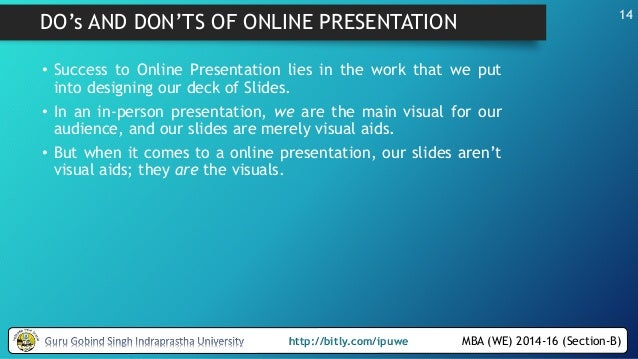 creating and delivering online presentations ppt