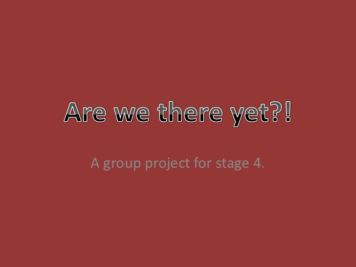 A group project for stage 4.