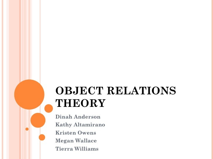 OBJECT RELATIONS THEORY Dinah Anderson Kathy Altamirano Kristen Owens Megan Wallace Tierra Williams