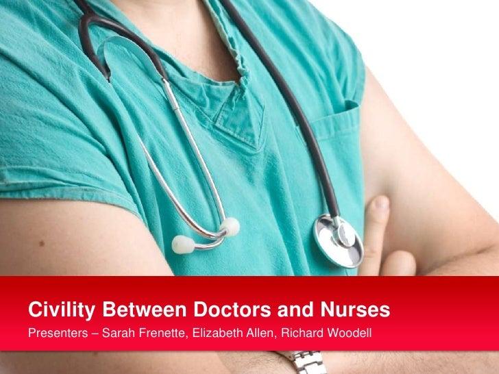 Civility Between Doctors and Nurses<br />Presenters – Sarah Frenette, Elizabeth Allen, Richard Woodell<br />