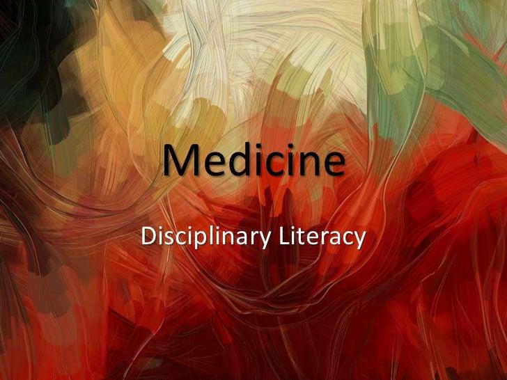 MedicineDisciplinary Literacy