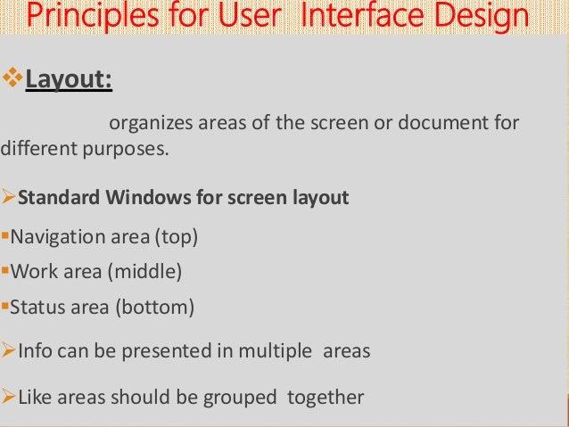 User Interface Design Principles Process