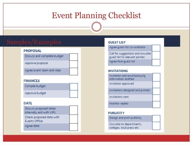 best practices in event planning – Sample Event Checklist Template