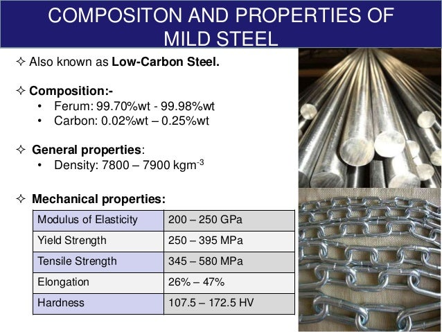 mechanical strength of mild steel It is well known that the strain rate affects tensile behaviour for example, it affects  the tensile strength and fracture elongation of metals.