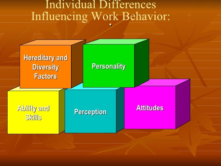 individual differences in organisational behaviour