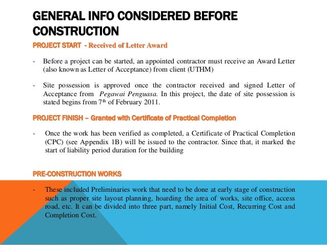 GROUP PROJECT PROPOSAL FOR THE FINISHED EXISTING BUILDING CONSTRUCT – Construction Project Proposal