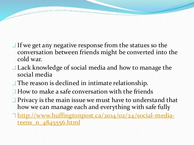 Conclusion So at the end we can conclude that social media and friendship is the one thing that attract by everyone So we ...
