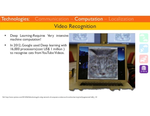 Technologies: Communication – Computation – Localization  Video Recognition   Deep Learning-Requires Very intensive  machi...