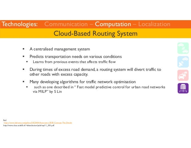 Technologies: Communication – Computation – Localization  Cloud-Based Routing System   A centralised management system   P...