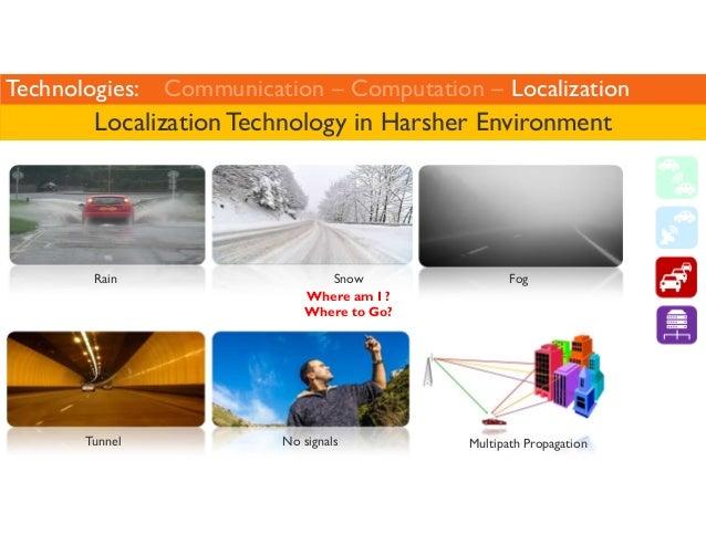 Technologies: Communication – Computation – Localization  Localization Technology in Harsher Environment  Rain  Tunnel  Sn...