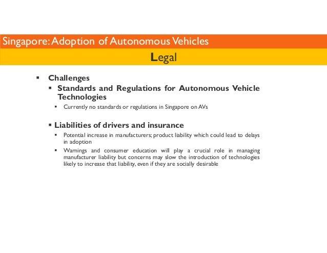 Singapore: Adoption of Autonomous Vehicles   Challenges  Legal   Standards and Regulations for Autonomous Vehicle  Technol...