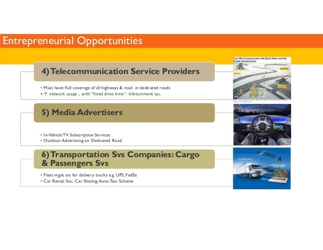 Entrepreneurial Opportunities  4) Telecommunication Service Providers  • Must have: Full coverage of all highways  road in...