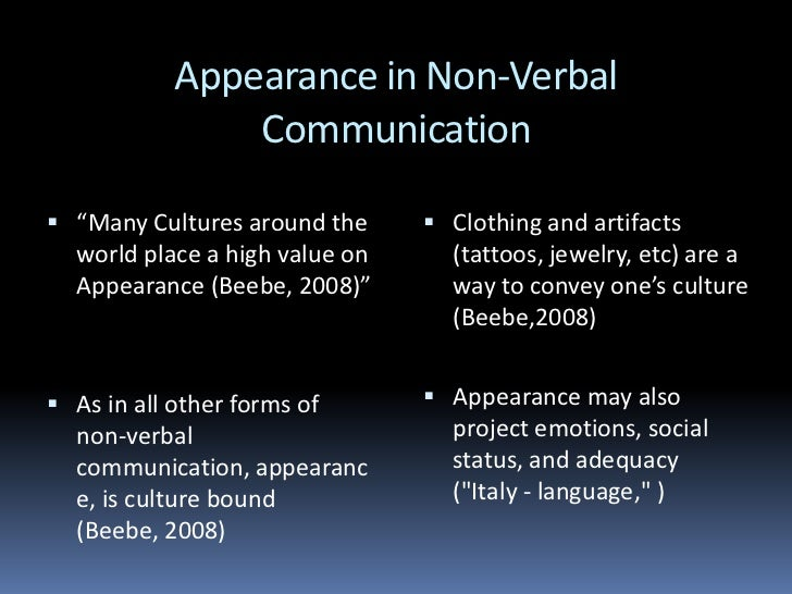 characteristics of verbal communication pdf