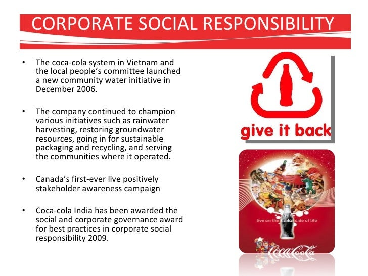 corporate strategic management for coca cola The challenge in developing a successful corporate water management  the coca-cola system consists of tccc and about  water risks and to inform strategic.