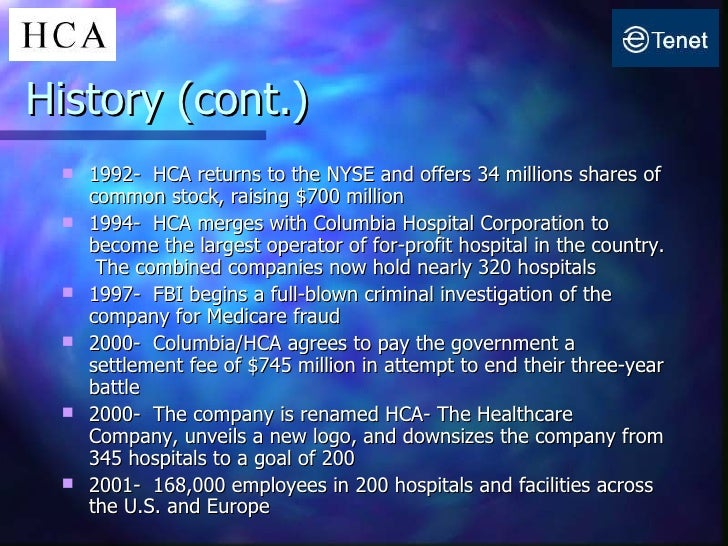 Columbia/HCA and the Resurgence of the For-Profit Hospital ...