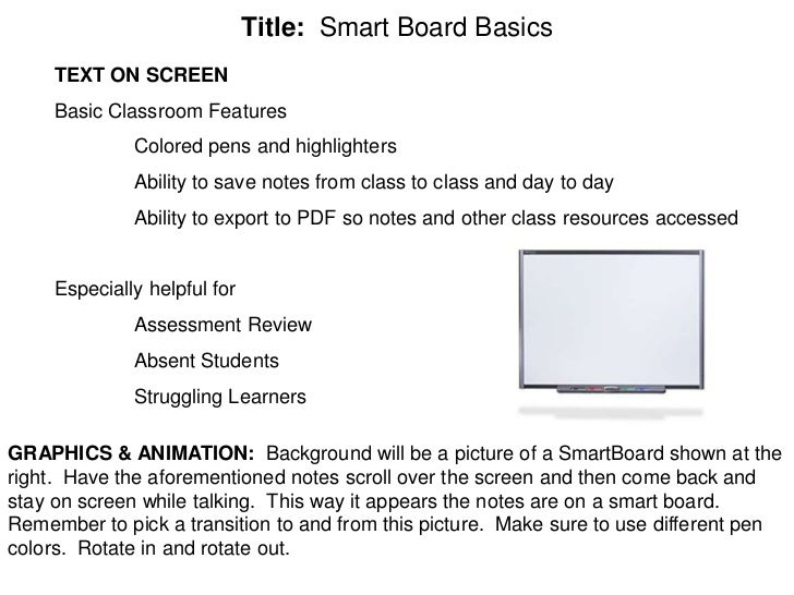 Group project story board Slide 2
