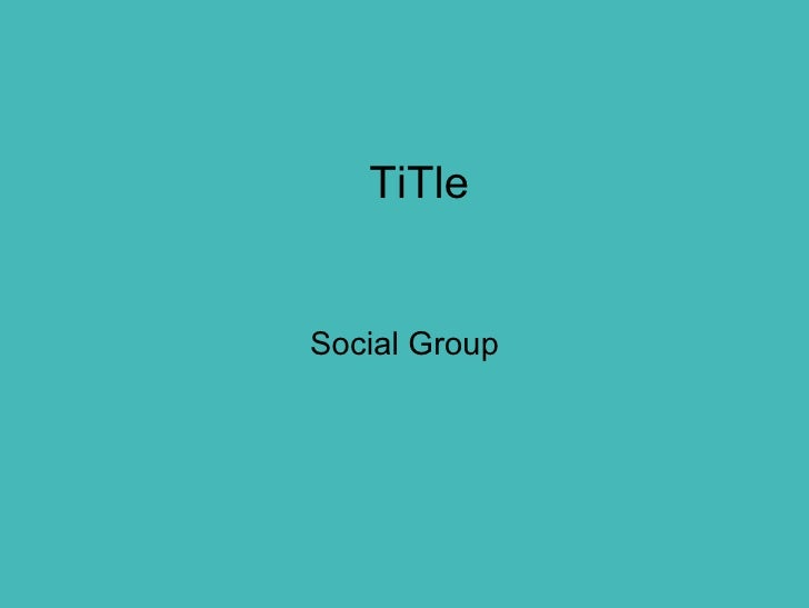 TiTle Social Group