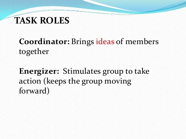 roles within groups Roles within group joe murphy there are many different roles within a group two roles which usually come to mind, would be a leadership role and the role of a follower.
