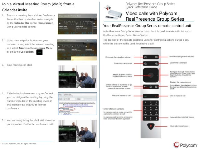 Using a Polycom Group Series to join a VMR