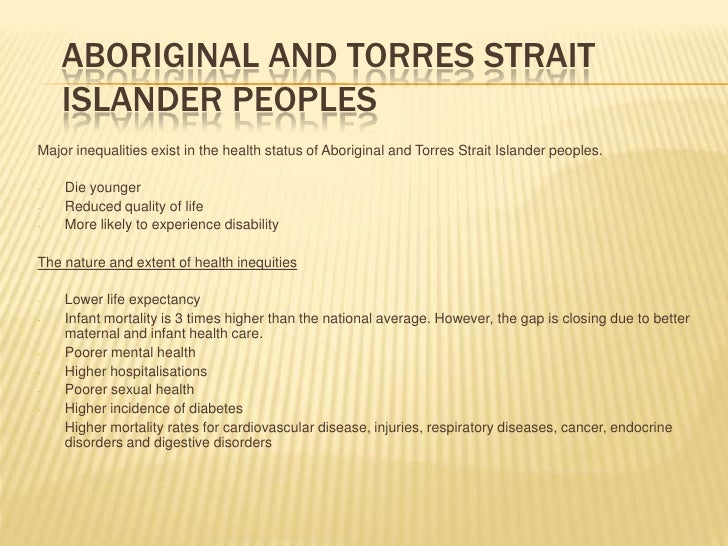 Level Of Disease Aboriginal And Torres Strait Islanders