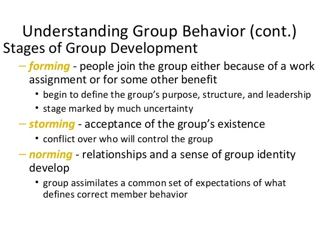explain groups and group behavior Learn about group dynamics, the basic nature of groups and how they develop  for members' behavior  the purpose of the group,.