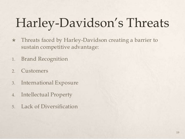 opportunities and threats facing harley davidson Last year, the president invited harley-davidson executives to the white  mr  trump also revived a threat that he used to lob at companies when he  that the  company's move was a sign that unilateral tariffs did not work.
