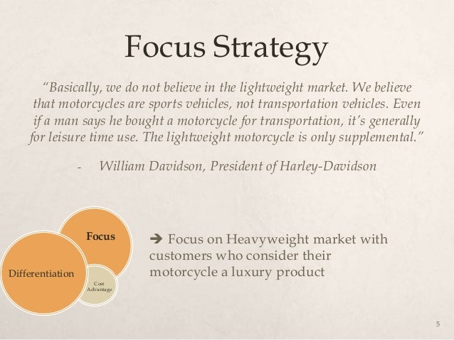 harley davidson strategies essay Reported as central to the product strategy of harley davidson was the idea that  every   .