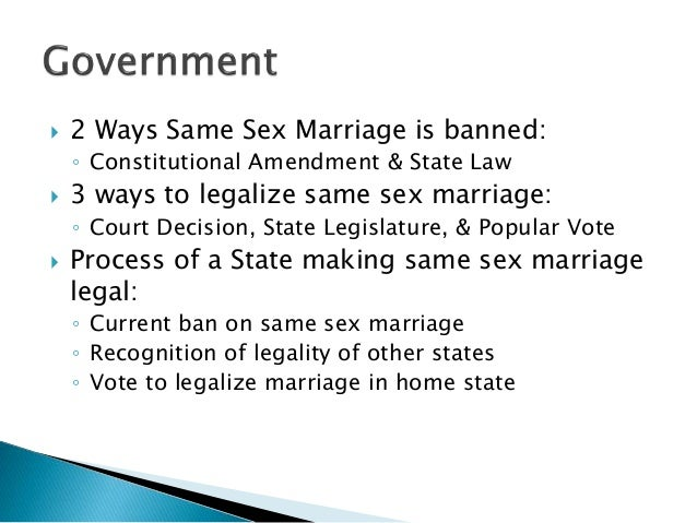why gay marriage is constitutional essay Alaska, which altered its constitution to prohibit gay marriage in 1998, saw a 17 2% increase in its divorce rate the seven states with the highest divorce rates between 2003 and 2008 all had constitutional prohibitions to gay marriage.