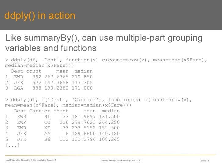 Grouping & Summarizing Data in R