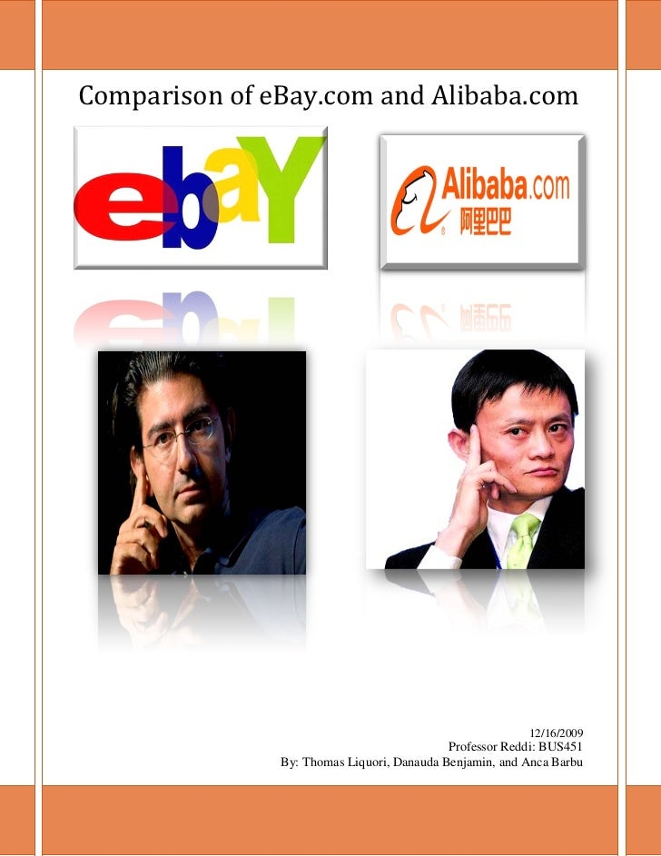 Comparison of eBay.com and Alibaba.com                                                         12/16/2009                 ...