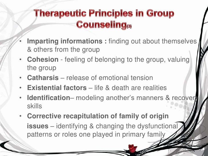 the working stage in group therapy Psychotherapy and older adults resource guide  changing therapy when working with an older client are not due  and response to group cognitive therapy with.